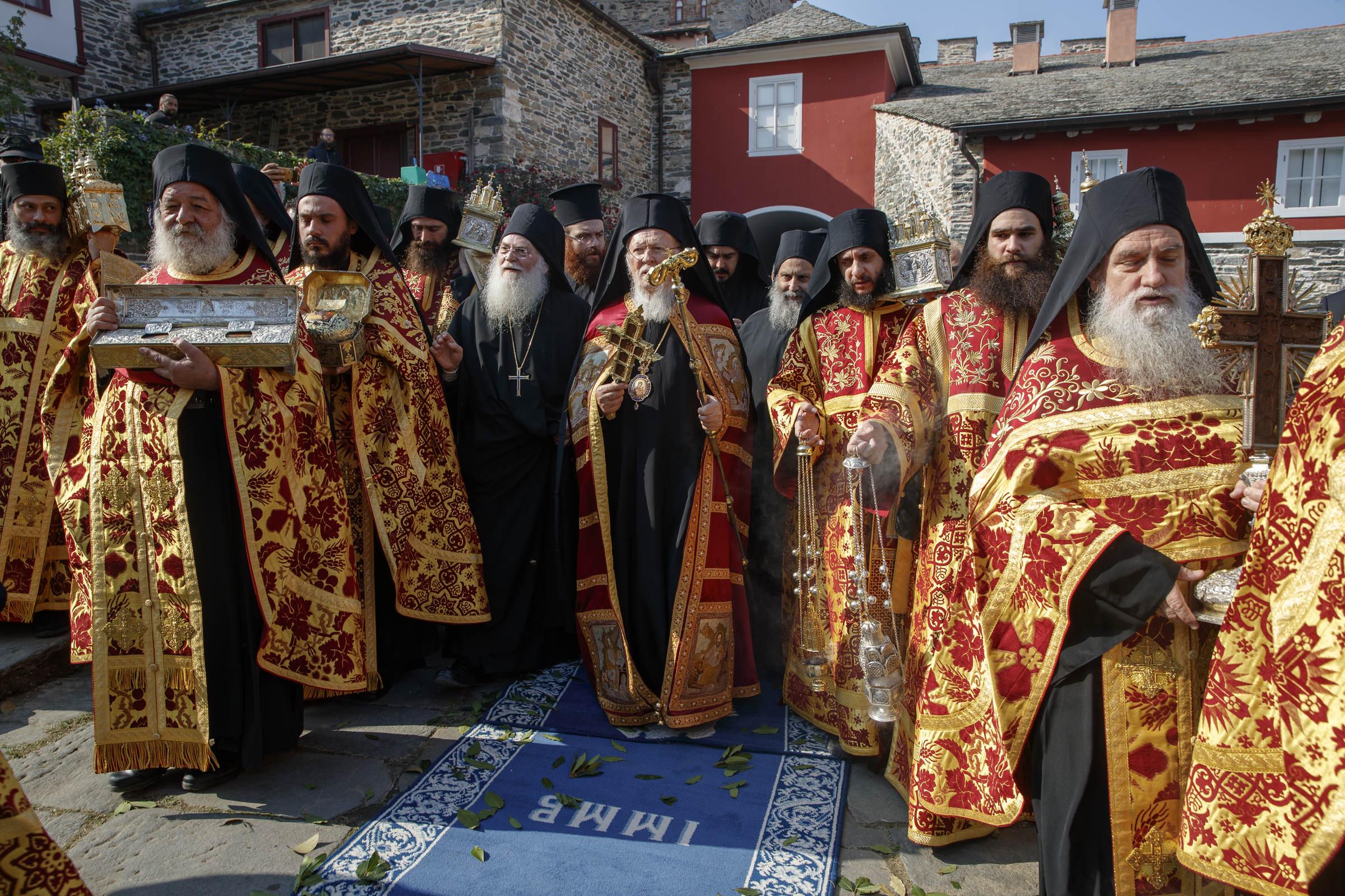 Vizita oficială a Patriarhului Ecumenic, Preafericirea sa Bartolomeu al II-lea, la Vatopedi