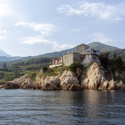 Chilia Mylopotamos, Muntele Athos
